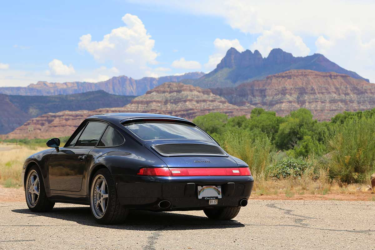 Porsche 993 in southern Utah