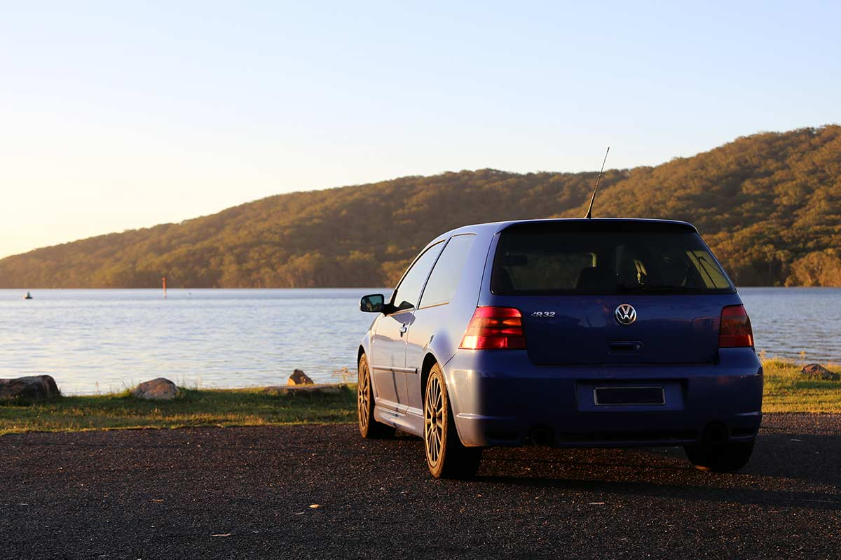 VW Golf R32 at Pacific Palms, NSW